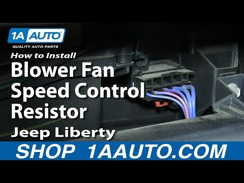 How To Install Replace Blower Fan Speed Control Resistor 2002-07 Jeep Liberty