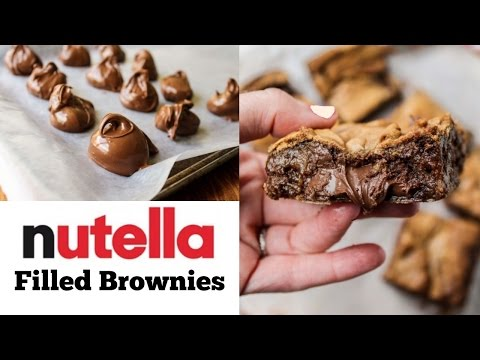 How To Make Nutella Filled Brownies