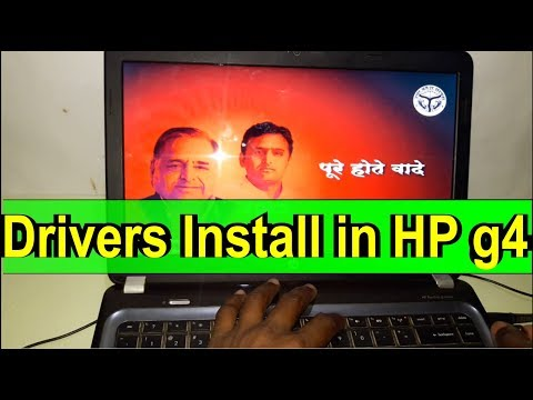 How to install Drivers in hp pavilion g4