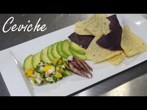 Ceviche Recipe - How to Make Calamari Ceviche with Mangos