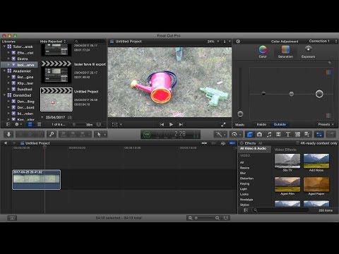 Isoler / vælg  farve i Final Cut Pro X med en color mask
