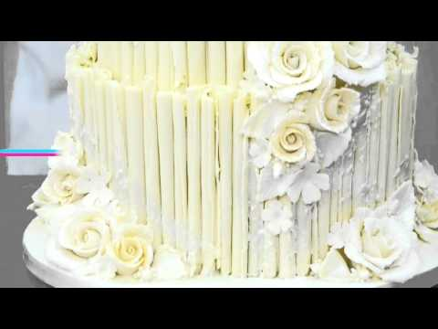 Rustic White Chocolate Wedding Cake Overview