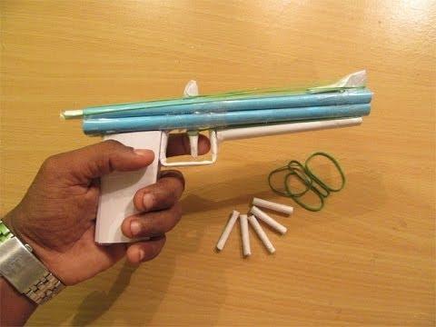 Hoe maak je een Paper Pistol dat schiet in twee richtingen - Easy Tutorials