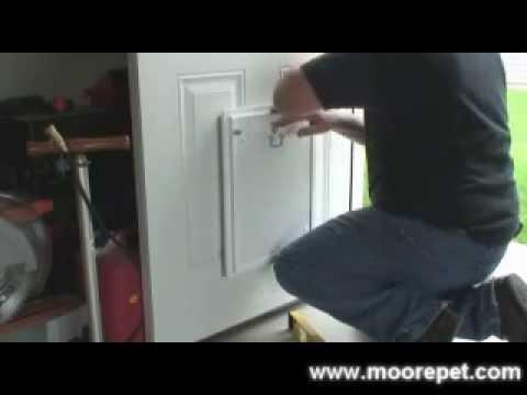 MaxSeal Pet Door Installation into Doors| Step 1: Template for Your Initial Cut in Door