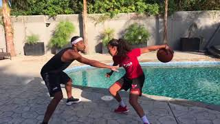 When hooping with Bae becomes too serious.