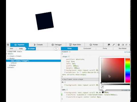 Edit css animations in the FirefoxDevTools inspector