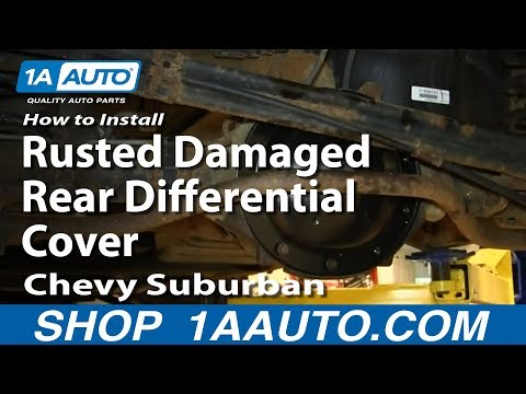 How To Install Replace Rusted Damaged Rear Differential Cover 2000-06 Chevy Suburban