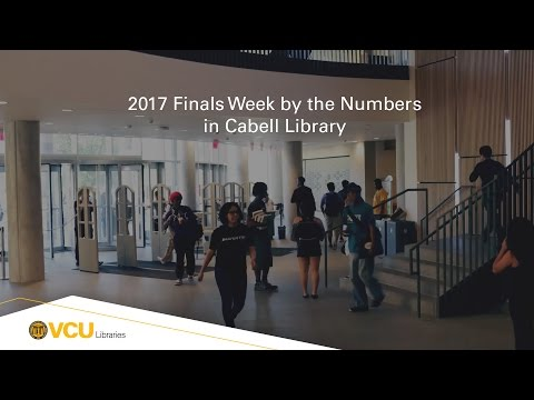 2017 Finals week by the numbers in Cabell Library