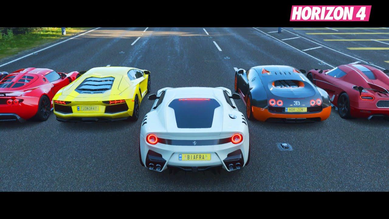 Forza Horizon 4 - Top 20 Fastest Italian Supercars Drag Race