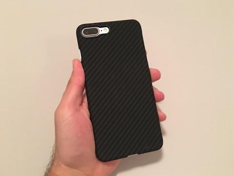 iPhone 7 Plus Case Ultra Slim 5.5 Inch PITAKA Aramid Black/Grey (Twill)