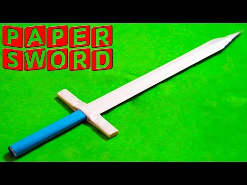 How to make a Paper Sword (easy paper sword)