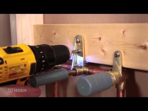 How to Install a Moen Wallmount Bathroom Faucet