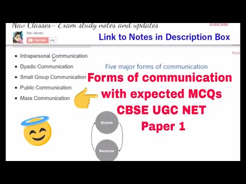 Communication  with expected MCQs CBSE UGC NET Paper 1 | in hindi | Class 3
