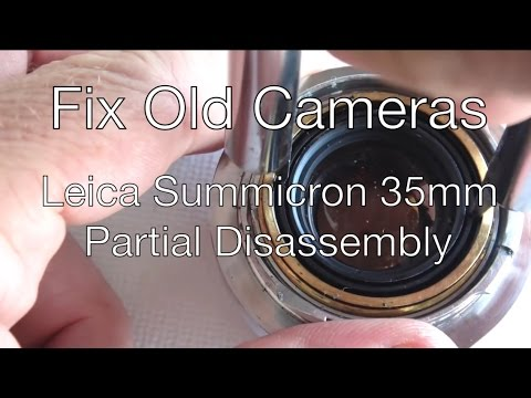 Fix Old Cameras: Leica Summicron 35mm Partial Disassembly