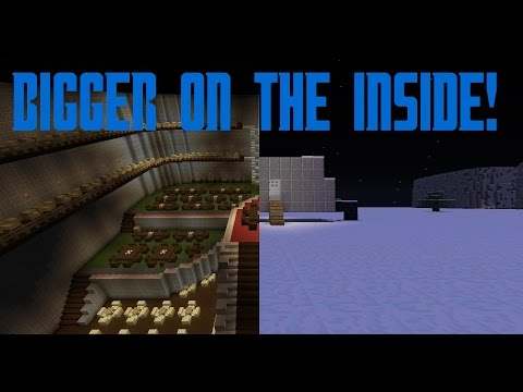 Minecraft Command Block Tutorial Bigger On The Inside!