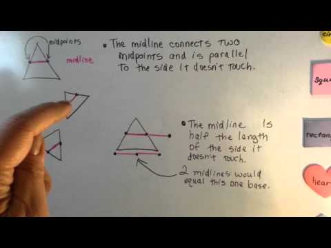 What is a Midline of a Triangle (Geometry #71)