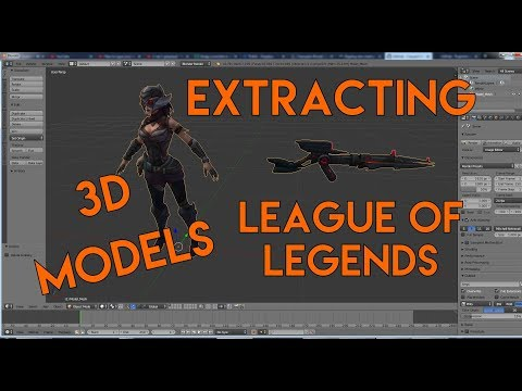 Extracting 3d models for Templates - League (LoL) edition
