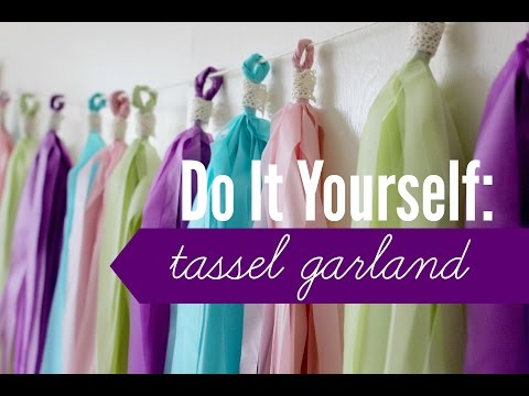 DIY   Tassel Garland (Plastic Tablecloth)   rachel republic