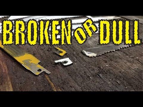Sharpen & Repair Broken Sawzall blades in SECONDS!