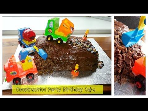 Birthday Party Ideas: Easy Construction Truck Birthday Party Cake