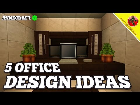Minecraft: 5 OFFICE DESIGN IDEAS (City Texture Pack) EP.1