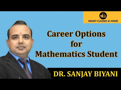 Career option for Mathematics Students by Dr. Sanjay Biyani (in Hindi)