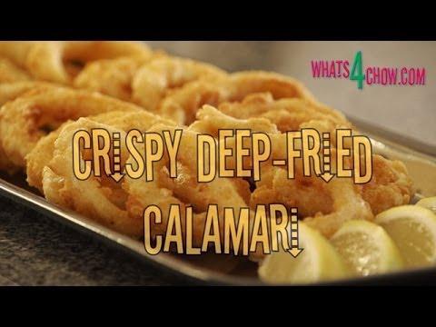 Crispy Deep-Fried Calamari Rings. How to make crisp fried calamari. Deep-fried calamari recipe.