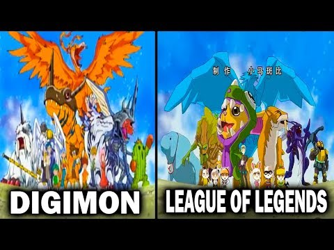 Digimon vs League of Legends Cartoon