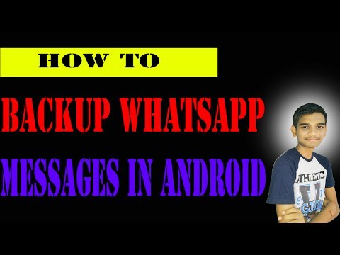 how to backup whatsapp messages on android in tamil full explained - Tamil Tech Kid