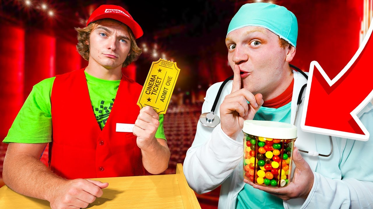 12 Weird Ways To SNEAK Candy Into The Movie Theater!
