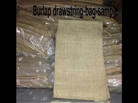 Burlap bag with drawstring hometex Canada
