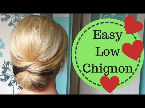 Easy Smooth Low Chignon Hairstyle Tutorial - Weddings prom holidays