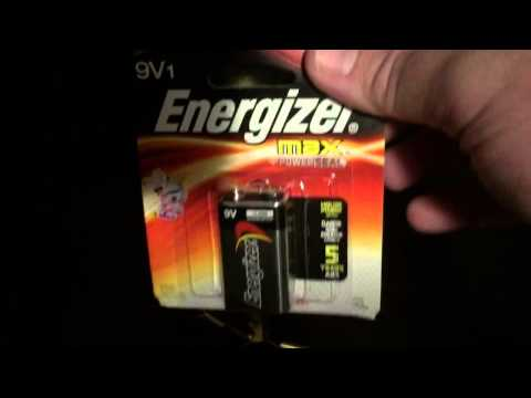 Changing the battery on an American Eagle/Cannon safe electronic key pad