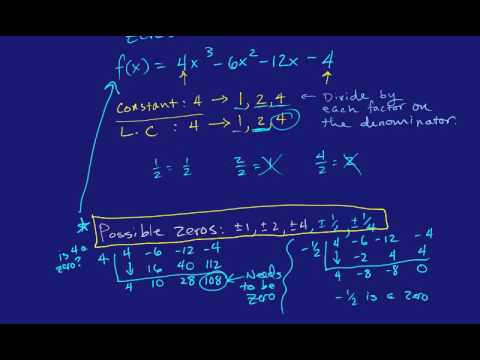 The Rational Root Theorem