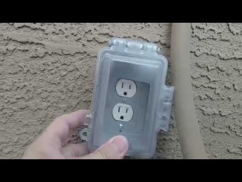 Installing an Exterior Outlet Cover