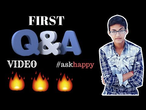 My editing software, youtube channel promotion , education!! First Q&A video #askhappy