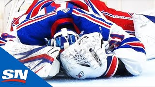 Concussion Spotter Pulls Rangers Goalie Shesterkin After Getting Run Over