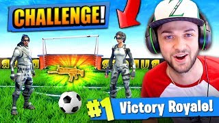 The FOOTBALL CHALLENGE in Fortnite: Battle Royale!