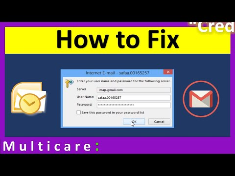How to configure outlook with gmail account | always asking password [Solved]