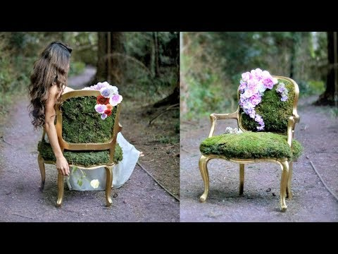 DIY MOSS CHAIR- ENCHANTED FOREST THEME