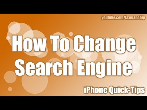 iPhone - Change Safari Search Engine
