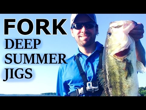 Lake FORK - Structure Fishing with Jigs - June 2016