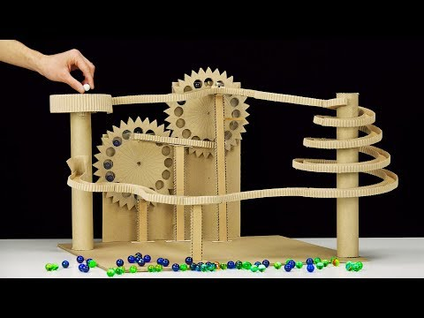 DIY Endless Marble Machine with Twisted Race Track