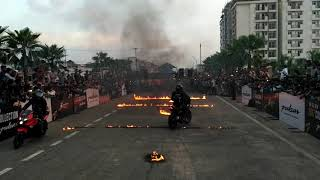 Fire stunts of pulsar at shahjahanpur city