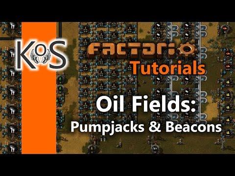 Factorio Tutorials: Setting Up an Oil Field | Pumpjacks & Beacons