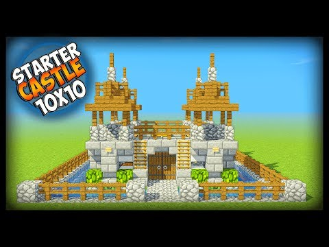 Minecraft 10x10 Starter Castle Tutorial - How to Build a Castle in Minecraft