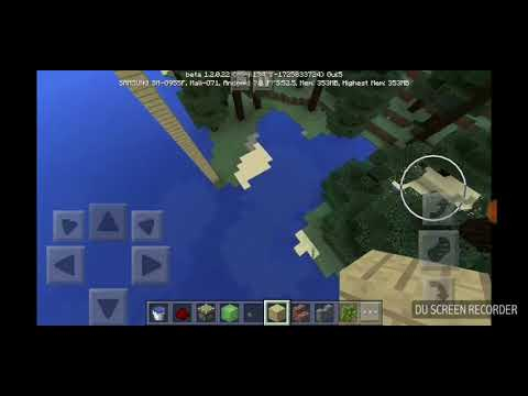 HOW to make a diving board in minecraft