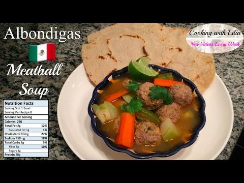 How to make Albondigas Soup - Meatball Soup Recipe - Albondigas Soup (Mexican Meatball Soup Recipe)