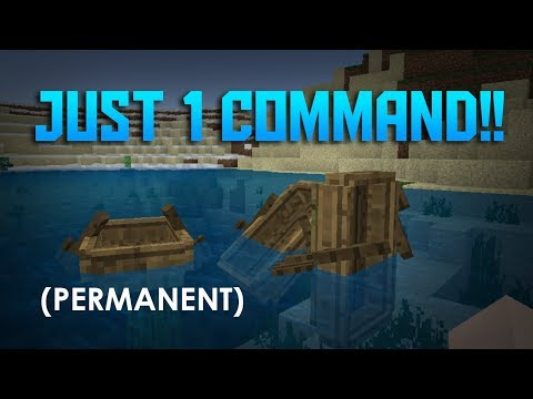 How to tilt your boat with... just... 1 SIMPLE COMMAND?!... - Minecraft PE