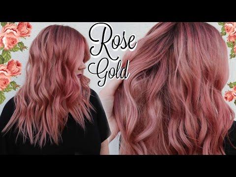 ☽ My ROSE GOLD Hair Color Tutorial ☾ (BEST FORMULA EVER)